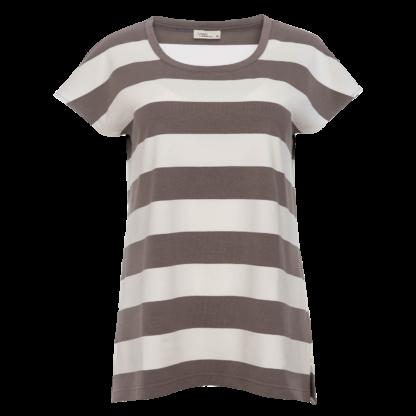 Aila braun weiß gestreiftes T-Shirt Damen Angels Ambition